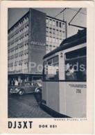 Wanne-Eickel City - Tram - Car Volkswagen - QSL Card - Deutsche Kurzwellen-Station - 1960 - Germany - Used - Radio Amatoriale