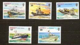 Jersey 2002 Yvertn° 1010-14 *** MNH Cote 10 Euro Bateaux Boten Ships - Jersey