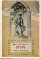 Leningrad - St. Petersburg - Monument To Russian Poet Pushkin - UF6FB Georgia - QSL Card - 1959 - Russia USSR - Used - Carte QSL