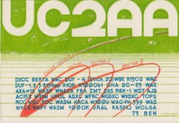 Minsk Belarus UC2AA - QSL Card - 1959 - Belarus USSR - Used - Carte QSL