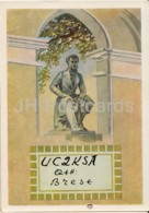 Leningrad - St. Petersburg - Monument To Russian Poet Pushkin - UC2KSA Brest - QSL Card - 1959 - Russia USSR - Used - Carte QSL