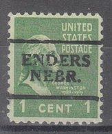 USA Precancel Vorausentwertung Preo, Locals Nebraska, Enders 701 - Vereinigte Staaten