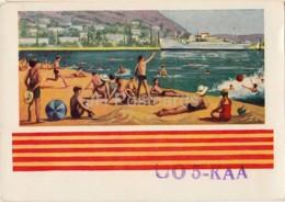 The South Crimea Shore - Beach - UO5KAA - QSL Card - 1960 - Ukraine USSR - Used - Carte QSL