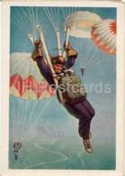 Parachutist - UM8AD - QSL Card - 1960 - Russia USSR - Used - Carte QSL