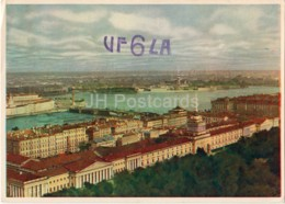 Leningrad Panorama - Inturist - St. Petersburg - UF6LA - QSL Card - 1963 - Russia USSR - Used - Carte QSL