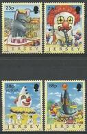 Cept 2002 Jersey Yvertn° 1017-20 *** MNH Cote 9,00 Euro Le Cirque Circus - Jersey