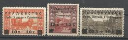 YU 1919-30-2 DEFINITIVE, JUGOSLAVIA, 3v, MH - Used Stamps
