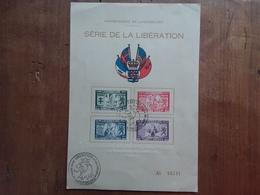 LUSSEMBURGO - Cartoncino F.D.C. Liberazione + Spese Postali - FDC