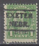 USA Precancel Vorausentwertung Preo, Locals Nebraska, Exeter 669-490, Nebr. Overprint - Vereinigte Staaten