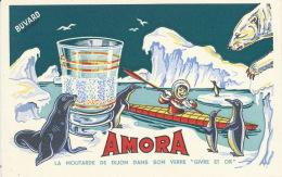 BUVARD - MOUTARDE DE DIJON - AMORA  - Format 21X13,5cm - Alimentare