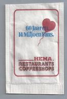 Suikerzakje.- HEMA RESTAURANTS COFFEESHOPS. 60 Jaar En 40 Miljoen Fans. Suiker Sucre Zucchero Zucker Sugar - Suiker