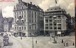 Switzerland......Luzern Lucerne Hotel Schwann & Rigi........ca. 1900 - LU Lucerne
