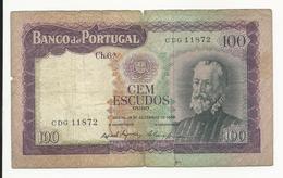 Portugal 100 Escudos 1961 Bad Grade - Portugal