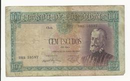 Portugal 100 Escudos 1957 Bad Grade - Portugal