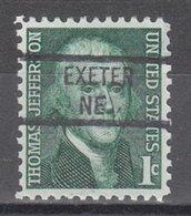 USA Precancel Vorausentwertung Preo, Locals Nebraska, Exeter 841 - Vereinigte Staaten