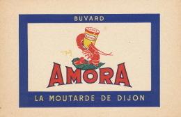 BUVARD - MOUTARDE DE DIJON AMORA - Format 21X13,8 Cm - Alimentare