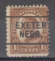 USA Precancel Vorausentwertung Preo, Locals Nebraska, Exeter 633-L-5 E - Vereinigte Staaten