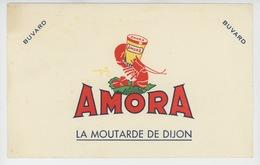 BUVARD - MOUTARDE DE DIJON - AMORA  - Format 20X12,5cm - Alimentare