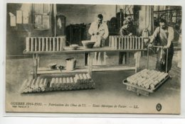 MILITARIA  Carte RARE  Fabrication Des Obus De 75 Essai Chimique De L'acier LL- Guerre 1914-1915       D02 2020 - Guerre 1914-18