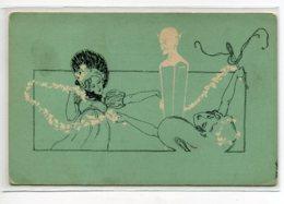 ILLUSTRATEUR ART NOUVEAU M M Vienne    Diable Et Jeunes Femmes 1900 Dos Non Divisé   D02  2020 - Illustrateurs & Photographes