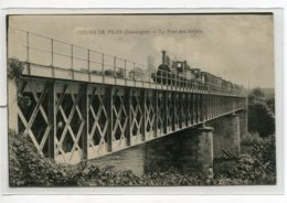24 COURS De PILES Le Train Passe Sur Le Ont De Chemin De Fer Des Gillets  écrite En 1919 De Bergerac    D02 2020 - Autres Communes
