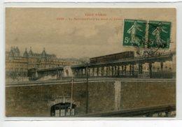 75 TOUT PARIS 1395 Carte RARE    Métropolitain    Métro Au Quai De Javel Couleur 1908 Timbrée     D02 2020 - Stations, Underground