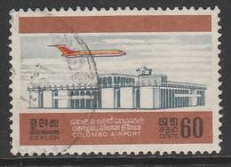 Sri Lanka Ceylon 1968 Opening Of Colombo Airport 60 C Multicoloured SW 388 O Used - Sri Lanka (Ceylon) (1948-...)