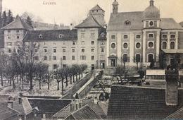 Switzerland......Luzern Lucerne - Mariahilfkirche Und Schulhaus.....ca. 1920 - LU Luzern