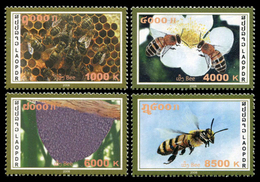 330 - Laos 2008 YT 1693-96 ; Mi# 2076-79 ** MNH Honeybees - Laos