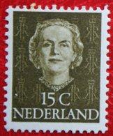 15 Ct Koningin Juliana EN FACE NVPH 523 (Mi 530) 1949-1951 1950 MH / Ongebruikt NEDERLAND / NIEDERLANDE - Ungebraucht