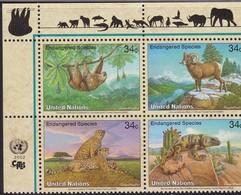 UNO-New York , 2002, 890/93, Gefährdete Arten (X): Fauna.  MNH ** - New York -  VN Hauptquartier