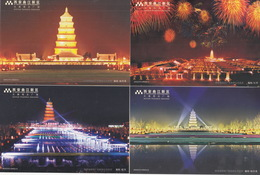 China 2004 Xi'An Dayan Pagoda Postal Cards - 1949 - ... République Populaire