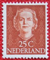 25 Ct Koningin Juliana EN FACE NVPH 525 (Mi 532) 1949-1951 1950 MH / Ongebruikt NEDERLAND / NIEDERLANDE - Ungebraucht