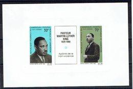 CAMEROUN - N°PA122 - 126 - Epreuve Papier épais - Martin Luther King - Apôtres De La Paix - Non Violence - Martin Luther King