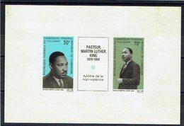 CAMEROUN - N°PA122/126 - Epreuve Papier Gommé - Martin Luther King - Apôtres De La Paix - Non Violence - Martin Luther King