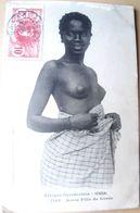 SEINS NUS SENEGAL JEUNE FILLE DE GOREE AVEC TEXTE AU DOS VOYAGE 1908 - Senegal