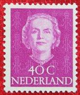 40 Ct Koningin Juliana EN FACE NVPH 528 (Mi 535) 1949 1950 MH / Ongebruikt NEDERLAND / NIEDERLANDE - Ungebraucht