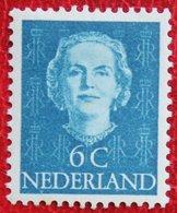 6 Ct Koningin Juliana EN FACE NVPH 519 (Mi 526) 1949 1950 MH / Ongebruikt NEDERLAND / NIEDERLANDE - Ungebraucht