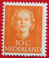10 Ct Koningin Juliana EN FACE NVPH 520 (Mi 527) 1949-1951 1950 MH / Ongebruikt NEDERLAND / NIEDERLANDE - Ungebraucht