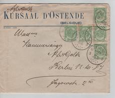 CBPND19/ TP 83 (5) S/L.Kursaal D'Ostende C.Oostende 3 5/8/1912 Avec Contenu > Berlin Verso C.de Cire - 1893-1907 Wappen