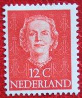 12 Ct Koningin Juliana EN FACE NVPH 522 (Mi 529) 1949-1951 1950 MH / Ongebruikt NEDERLAND / NIEDERLANDE - Ungebraucht