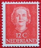 12 Ct Koningin Juliana EN FACE NVPH 522 (Mi 529) 1949-1951 1950 POSTFRIS / MNH ** NEDERLAND / NIEDERLANDE - Ungebraucht