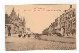 Veurne 28 Furnes  Gare Et Place De La Station  Statie En Statieplaats  Edit.Libr.H.Moree-Decree  MARCOVICI - Veurne