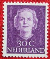 30 Ct Koningin Juliana EN FACE NVPH 526 (Mi 533) 1949-1951 1950 MH / Ongebruikt NEDERLAND / NIEDERLANDE - Ungebraucht