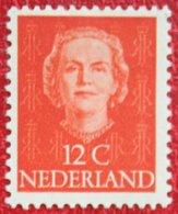 12 Ct Koningin Juliana EN FACE NVPH 521 (Mi 528) 1949 1950 MH / Ongebruikt NEDERLAND / NIEDERLANDE - Ungebraucht
