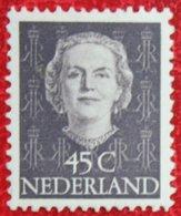 45 Ct Koningin Juliana EN FACE NVPH 530 (Mi 537) 1949 1950 1951 MH / Ongebruikt NEDERLAND / NIEDERLANDE - Ungebraucht