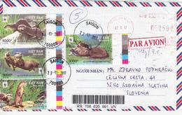 Vietnam, Animals, Mammals, Otter, Par Avion - Vietnam