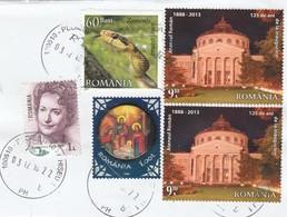 ROMANIA 2013 Postally Used Stamps - 1948-.... Repúblicas