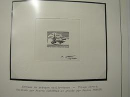 EPREUVE DE POINCON TAILLE DOUCE  N° 3557 ** PORTE AVIONS CHARLES DE GAULLE - Prueba De Artistas
