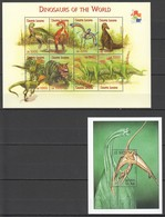 PK025 2001 SIERRA LEONE FAUNA DINOSAURS OF THE WORLD REPTILIES 1KB+1BL MNH - Timbres